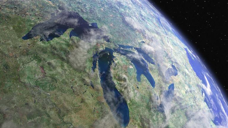 A view of the Great Lakes from space. (USEPA Environmental-Protection-Agency / Flickr)