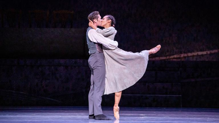 "Greig Matthews and Amanda Assucena in Joffrey Ballet's production of ""Jane Eyre."" (Photo by Cheryl Mann)"
