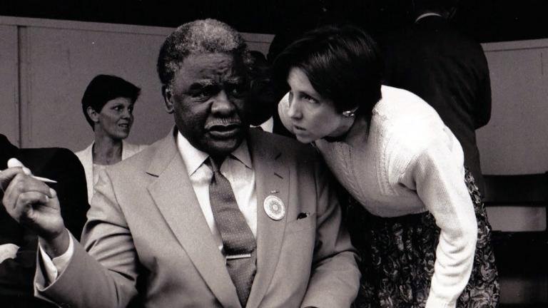 """""""Punch 9 for Harold Washington"""" explores the life and legacy of the historic mayor who, as the city's first Black Mayor, faced racism on a daily basis. (Courtesy Tallgrass Films)"""