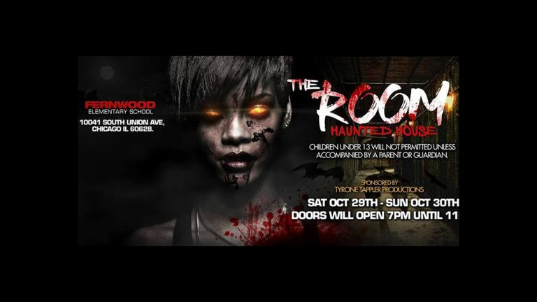 "An Eventbrite ad for the canceled ""The Room"" haunted house event."