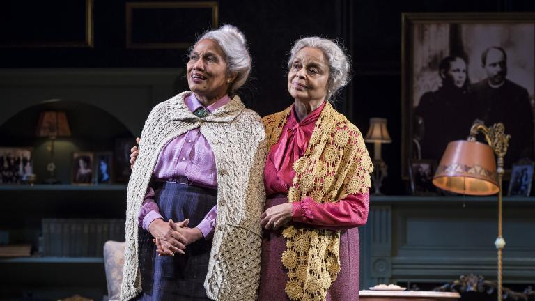 "Ella Joyce and Marie Thomas in Chuck Smith's major revival of Emily Mann's ""Having Our Say: The Delany Sisters' First 100 Years"" at Goodman Theatre, May 5-June 10. (Photo credit: Liz Lauren)"