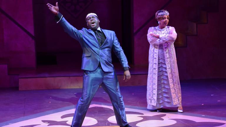 "Dwight Neal (left) and Shari Addison perform in ""The Other Cinderella."" (Credit: Michael Courier)"