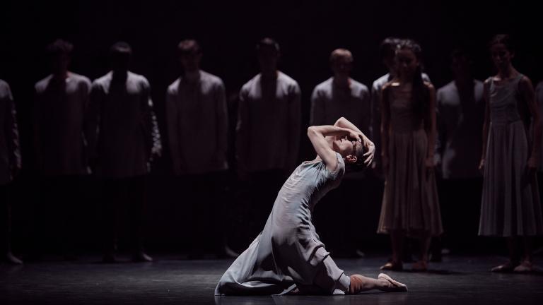 "English National Ballet. Alina Cojocaru in Akram Kham's ""Giselle."" (© Laurent Liotardo)"