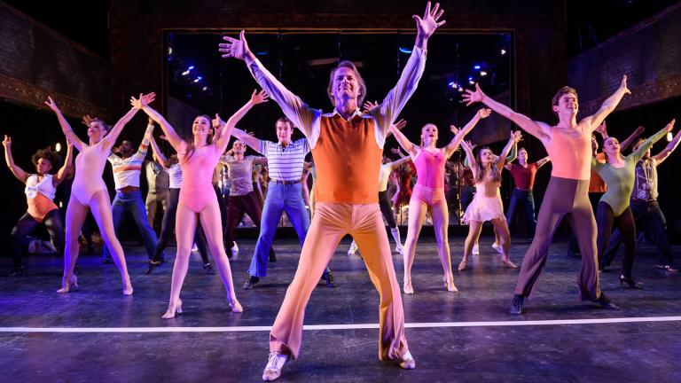 "The cast of ""A Chorus Line"" at Porchlight Music Theatre. (Credit: Michael Courier)"