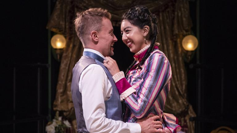 """Greg Matthew Anderson and Cher Álvarez in """"A Doll's House."""" (Photo by Michael Brosilow)"""