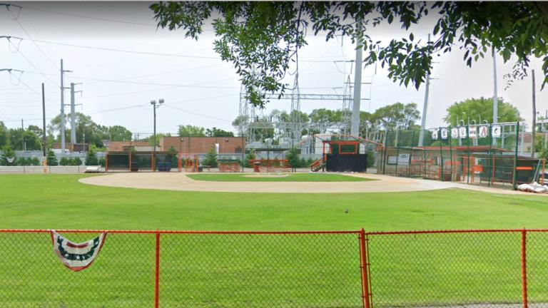 Lead and arsenic were discovered in the soil beneath the Hegewisch Little League field. (Google Streetview photo)