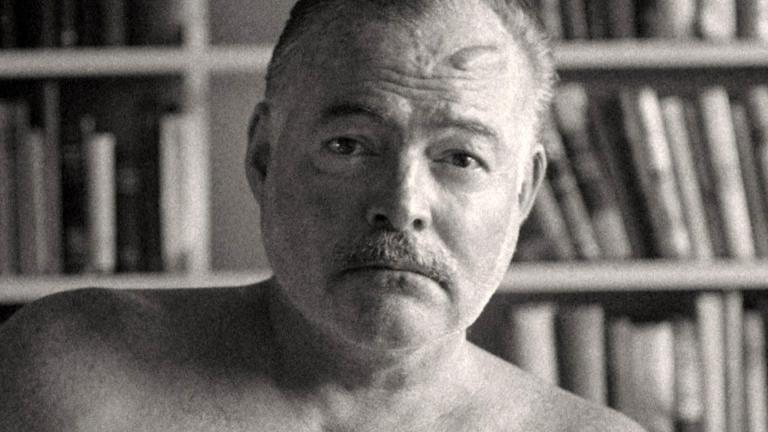 "A still image of Ernest Hemingway from the new Ken Burns and Lynn Novick PBS documentary ""Hemingway."" (Courtesy of PBS)"