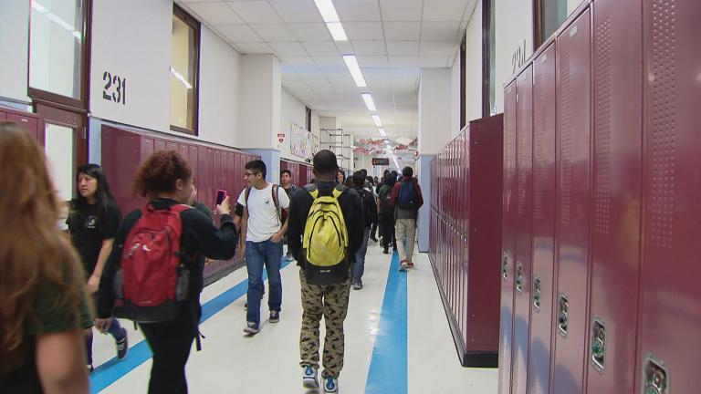 Crowded hallways are a thing of the past in the era of remote learning. (WTTW News)