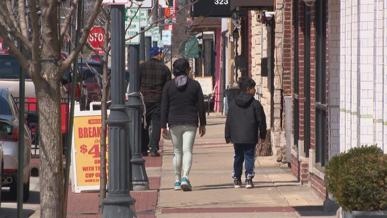 Downtown Highwood (WTTW News)