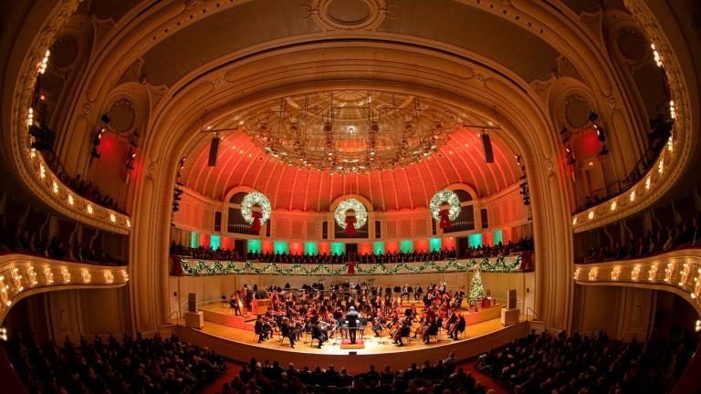 "The Chicago Symphony Orchestra's ""Home for the Holidays"" concert will be available to view online. (Todd Rosenberg / Chicago Symphony Orchestra)"