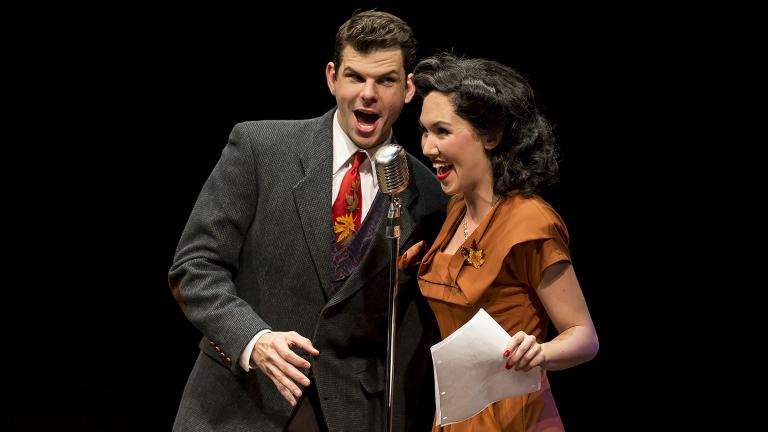 "Will Burton and Kimberly Immanuel in ""Holiday Inn"" at the Marriott Theatre. (Courtesy of Liz Lauren)"