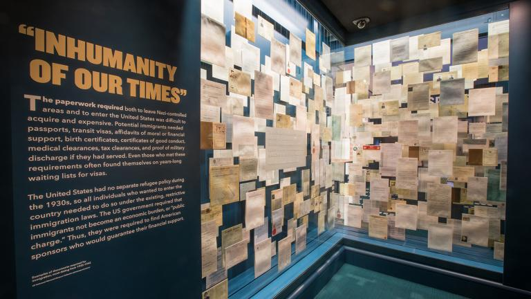 """""""Americans and the Holocaust"""" special exhibition (2018-2021), U.S. Holocaust Memorial Museum."""