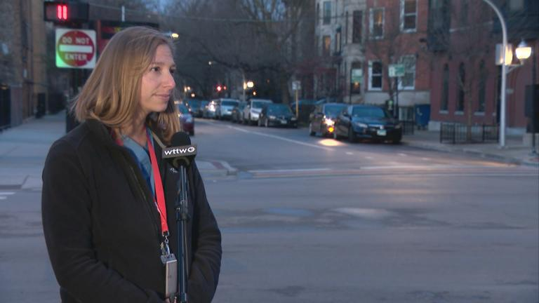 Abbey Baus, a physician assistant and assistant site medical director at Howard Brown Health's clinic in Lakeview. (WTTW News)