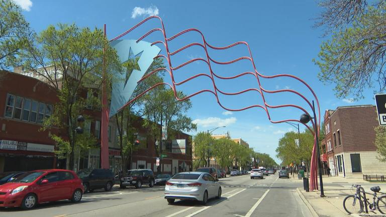 The Humboldt Park neighborhood in Chicago. (WTTW News)