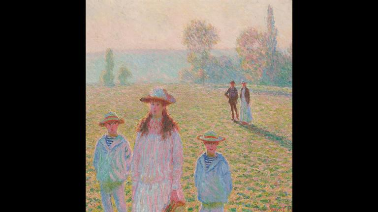 Claude Monet. Landscape with Figures, Giverny, 1888. Private collection.