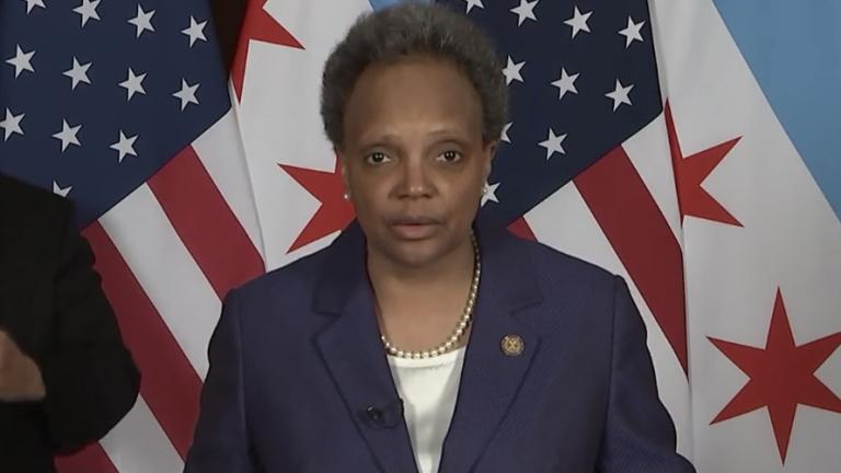 Mayor Lori Lightfoot addresses the city Friday, March 19, 2021 to mark the anniversary of the COVID-19 pandemic. (Chicago Mayor's Office)