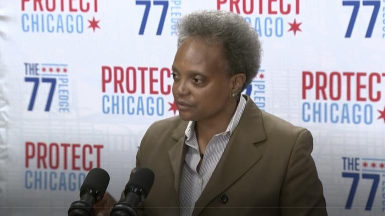Mayor Lori Lightfoot addresses the news media Friday Oct. 15, 2021. (Chicago's Mayor's Office)