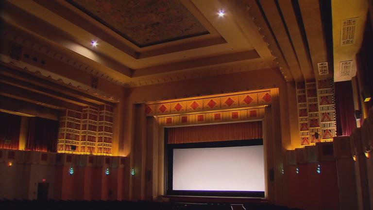 The interior of the Pickwick Theatre features Iannelli's Art Deco designs