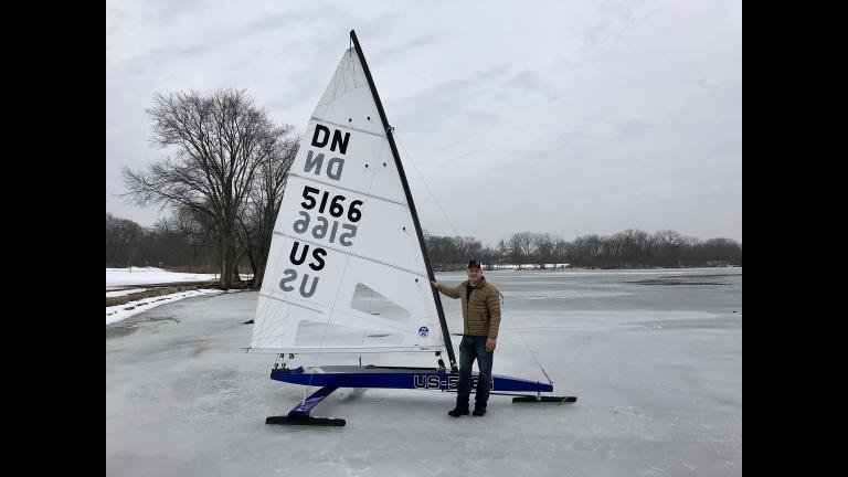Chris Berger shows us his DN ice boat.