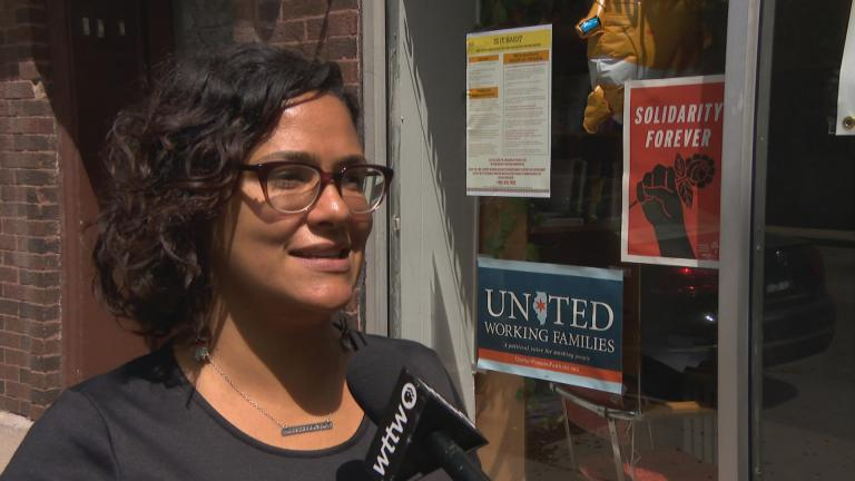 Ald. Rossana Rodriguez Sanchez, 33rd Ward, speaks to WTTW News.