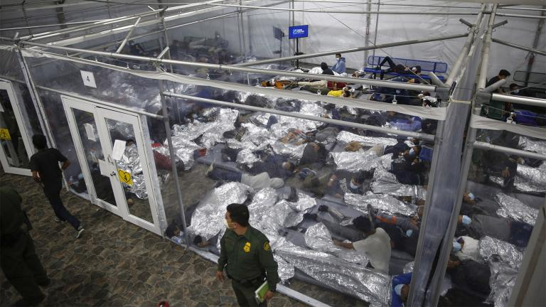Migrant families will be held at hotels in the Phoenix area in response to a growing number of people crossing the U.S.-Mexico border, authorities said Friday, April 9, 2021 another step in the Biden administration's rush to set up temporary space for them. (AP Photo / Dario Lopez-Mills, Pool, File)
