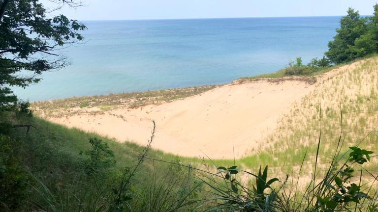 View of Lake Michigan at Indiana Dunes National Park. (Patty Wetli / WTTW News)