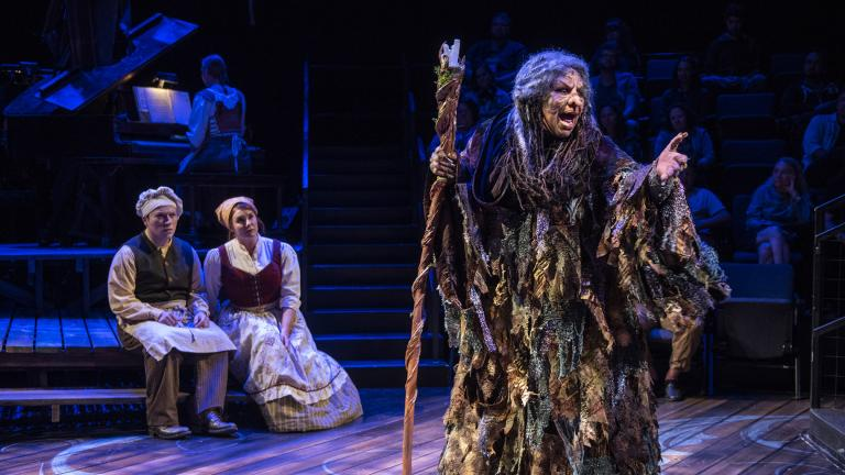 "Michael Mahler, left, Brianna Borger, center and Bethany Thomas in ""Into the Woods."" (Photo: Michael Brosilow)"