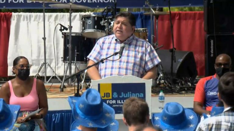 Pritzker, however, who has been a mainstay at the fair since it opened last week, skipped Democrats Day. (WTTW News)