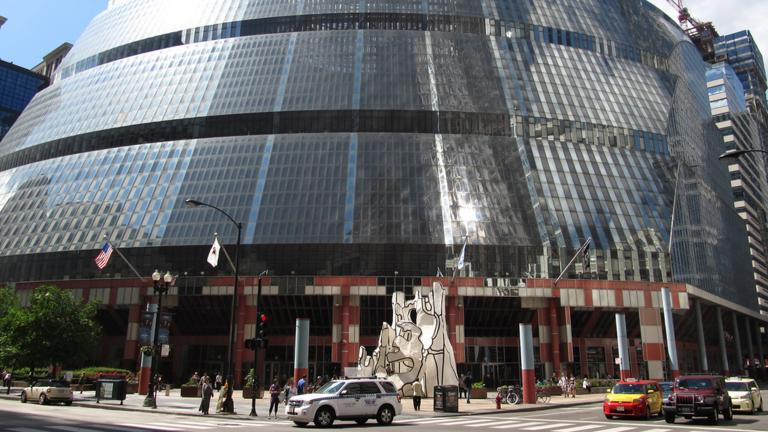 Senate Minority Leader Christine Radogno and House Minority Leader Jim Durkin filed legislation that would direct future property tax receipts from a possible Thompson Center redevelopment to Chicago Public Schools. (Ken Lund / Flickr)