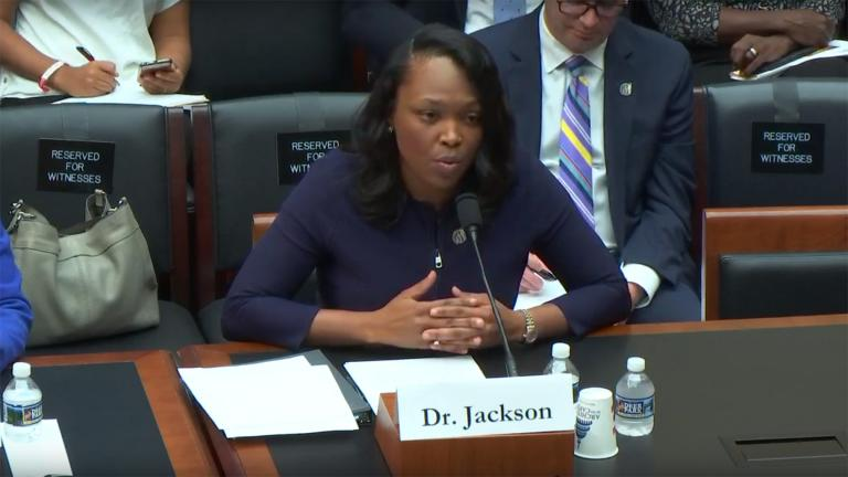 CPS CEO Janice Jackson speaks before the House of Representatives' Subcommittee on Early Childhood, Elementary and Secondary Education in Washington D.C., on Wednesday, Sept. 11, 2019. (Credit: House Committee on Education and Labor)