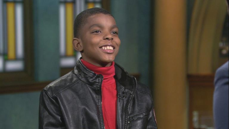 "Jahkil Jackson appears on ""Chicago Tonight"" on Dec. 26, 2019. (WTTW News)"