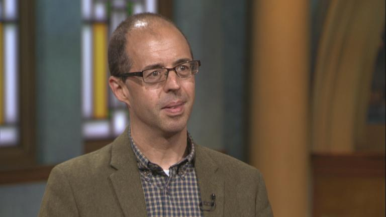 "Author James Poniewozik appears on ""Chicago Tonight"" on Sept. 16, 2019."