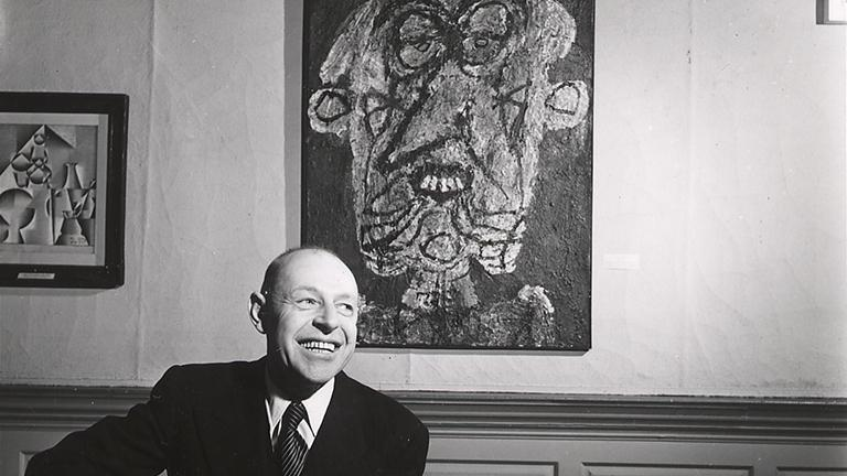 Jean Dubuffet, 1951. (Courtesy The Arts Club of Chicago)