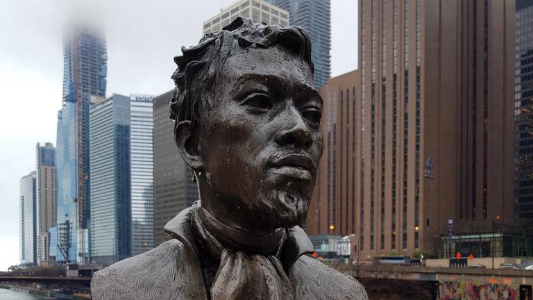 A bust of Jean Baptiste Pointe DuSable. (Wikimedia Commons)