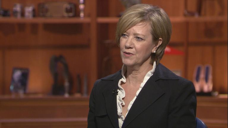 "Jeanne Ives appears on ""Chicago Tonight"" on Thursday, March 19, 2020."