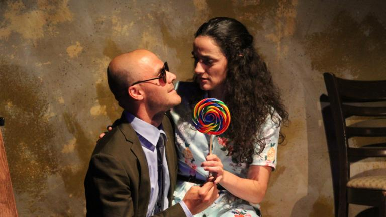 "Chris Chmelik, left, and Cruz Gonzalez-Cadel in the Steep Theatre production of Cordelia Lynn's play, ""Lela & Co."" (Photo: Gregg Gilman)"