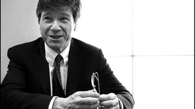 Economist Jeffrey Sachs Image credit: European Parliament / Pietro Naj-Oleari
