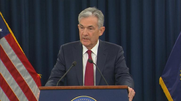 """Nothing will deter us from doing what we think is the right thing to do,"" Federal Reserve Chairman Jerome Powell said Wednesday, Dec. 19, 2018."