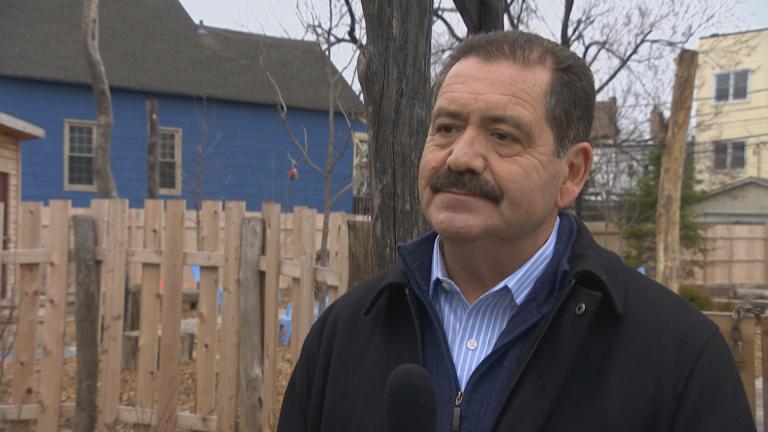 "U.S. Rep. Jesus ""Chuy"" Garcia speaks with WTTW News on Thursday, March 26, 2020."