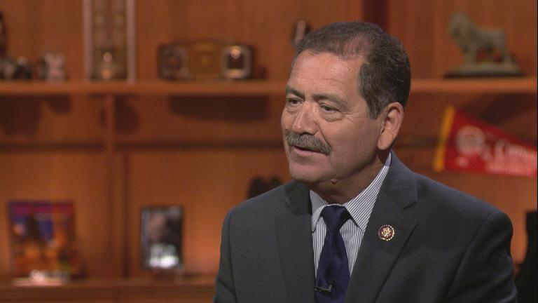 """Jesus """"Chuy"""" Garcia appears on """"Chicago Tonight"""" on Aug. 26, 2019."""