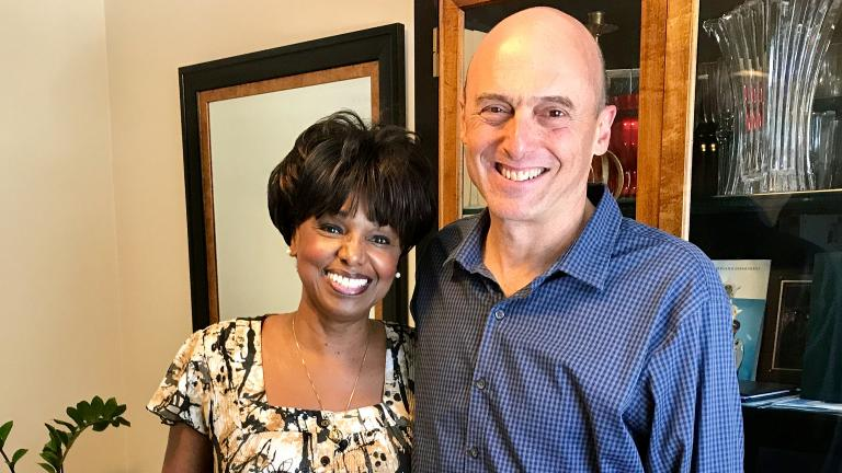 Jay Shefsky is reunited with his Lyft Driver, Janice Walker-Hester.