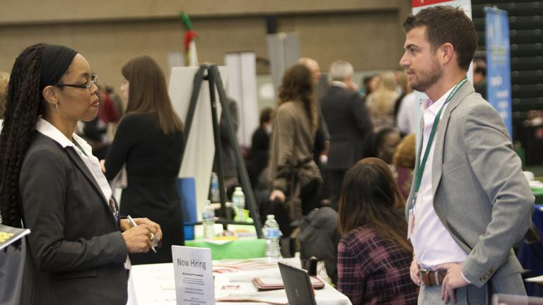 The College of DuPage hosts a career fair. (COD Newsroom / Flickr)