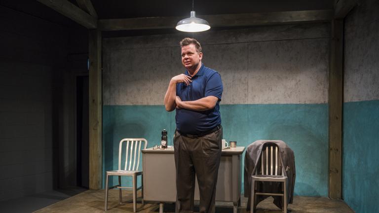 "Joe Foust in ""The Absolute Brightness of Leonard Pelkey""  (Photo by Michael Brosilow)"