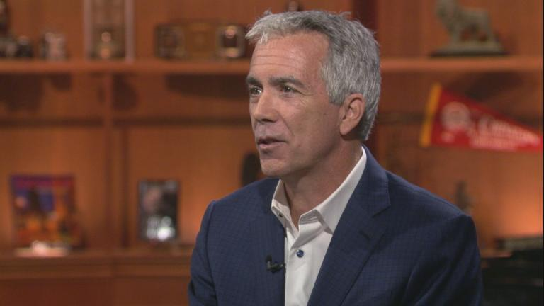 "Former U.S. Rep. Joe Walsh appears on ""Chicago Tonight"" on Aug. 19, 2019."