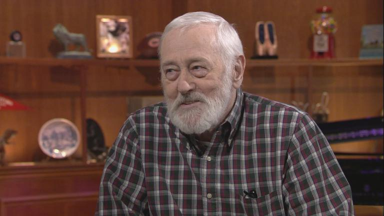 "John Mahoney appears on ""Chicago Tonight"" in August 2017."