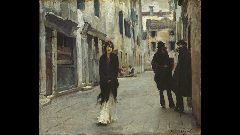 "John Singer Sargent. ""Street in Venice,"" 1882. National Gallery of Art, Washington, Gift of the Avalon Foundation."