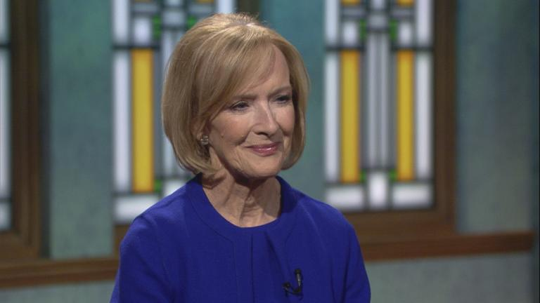 "Judy Woodruff appears on ""Chicago Tonight"" on Oct. 16, 2018."