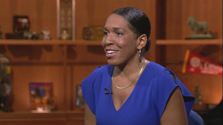 "Lt. Gov. Juliana Stratton appears on ""Chicago Tonight."""