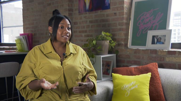 "Karen Spears talks about her ""mind-mapping"" process. (WTTW News)"