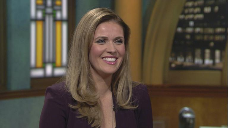 "Kate Sullivan appears on ""Chicago Tonight"" on Thursday, Feb. 13, 2020. (WTTW News)"